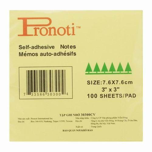 "Giấy giao việc Pronoti - 3"" x 3"""