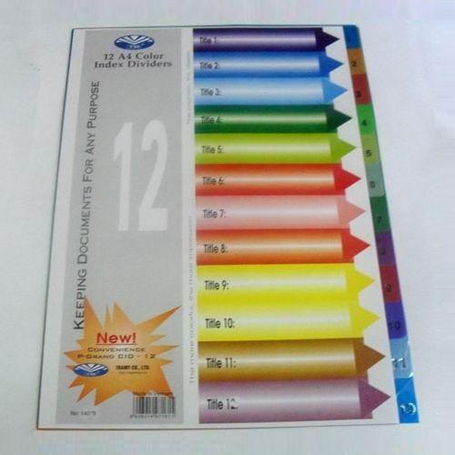 Chia file nhựa số 1-12 mầu