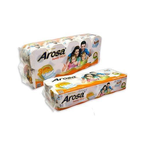 Giấy vệ sinh Arosa 10 cuộn , 3 lớp , có lõi màu cam