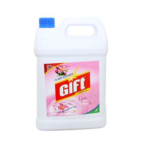 Nước lau sàn Gift 2x đậm đặc hương Lily can 4kg