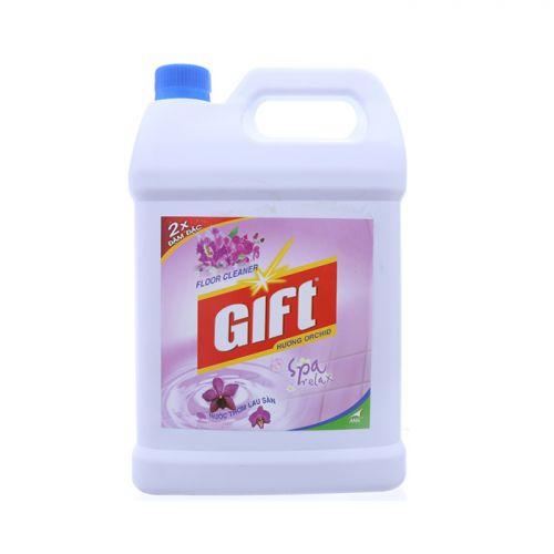 Nước lau sàn Gift 2x đậm đặc hương Orchird chai 4kg