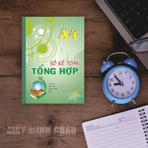 Sổ kế toán tổng hợp Minh Châu A4 - 92 trang